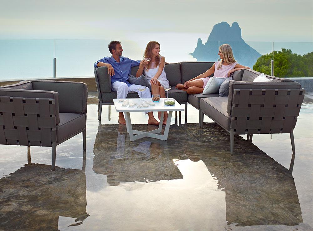 conic lounge braun tropictrend exklusive gartenm bel. Black Bedroom Furniture Sets. Home Design Ideas